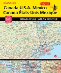 Canada USA Mexico North American Road Atlas  2018 - 20227