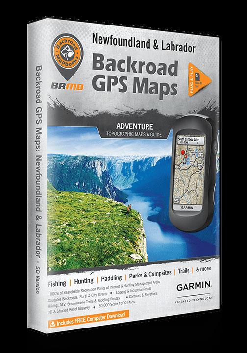 Newfoundland & Labrador GPS MAP - 60238