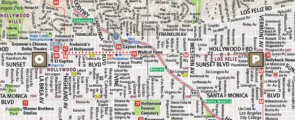 Los Angeles Street Map 27273 Vandam