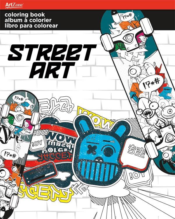 Coloring book street art 695 70100