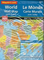 World Folded Wall Map - 1074
