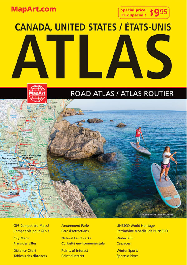 Canada USA Road Atlas