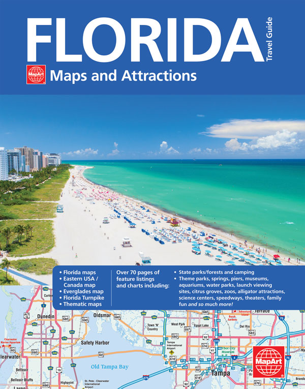 Florida Travel Guide Map FLORIDA MAPS & ATTRACTIONS TRAVEL GUIDE   20585