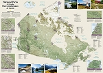 CANADA NATIONAL PARKS 42X30 WALL 49.99  - 20761