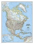 NORTH AMERICAN CLASSIC WALL MAP 23.5 X 30.5  35.95  - 20764