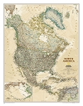 NORTH AMERICAN EXECUTIVE WALL MAP 23.5 X 30.5  35.95  - 20765