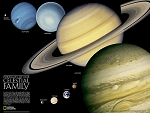 THE SOLAR SYSTEM 2 SIDED WALL MAP 24.5 X 18.25  34.95  - 20766