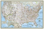 UNITED STATES CLASSIC WALL MAP 36 X 24  39.95  - 20768