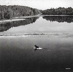 MAGNET - MOOSE IN LAKE B&W - 588 - 6