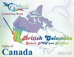 SIGHTS OF CANADA BC Yukon NWT Nunavut COLOURING BOOK - 585