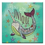 GREETING CARD - YOU ARE UNIQUE NARWHAL THUMBTACK  - 31700