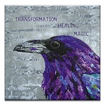 GREETING CARD - HEALING RAVEN THUMBTACK  -  31702