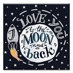 GREETING CARD - TO THE MOON AND BACK THUMBTACK - 31710