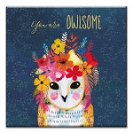 GREETING CARD - YOU ARE OWLSOME THUMBTACK  -  31713