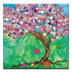 GREETING CARD - BALLOON TREE THUMBTACK  - 31718