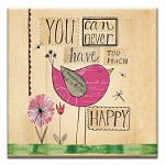 GREETING CARD - NEVER TOO MUCH HAPPY THUMBTACK - 31722