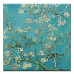 GREETING CARD - VAN GOGH ALMOND BLOSSOMS THUMBTACK  - 38943