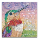 GREETING CARD - LOOK WELL INTO THYSELF THUMBTACK  -  39150
