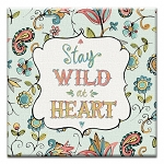 GREETING CARD - STAY WILD AT HEART THUMBTACK   - 39154