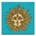 GREETING CARD - VIBRANT SUN THUMBTACK  -  39155