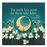GREETING CARD - THE EARTH HAS MUSIC THUMBTACK    - 31712