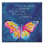 GREETING CARD - CATERPILLAR BUTTERFLY THUMBTACK - 31716