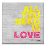 GREETING CARD - ALL YOU NEED IS LOVE THUMBTACK - 32704