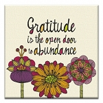GREETING CARD - GRATITUDE IS THE OPEN DOOR THUMBTACK  - 38937