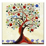 GREETING CARD - INSPIRING TREE OF LIFE THUMBTACK  - 38944