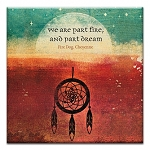 GREETING CARD - PART FIRE THUMBTACK   - 38948