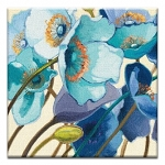 GREETING CARD - BLUE FLOWERS THUMBTACK - 38989