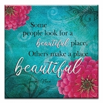 GREETING CARD - BEAUTIFUL PLACE THUMBTACK  -  39171