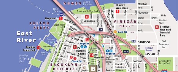 Street Map Of Brooklyn Brooklyn Street Map   27885   Vandam