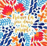 FRENCH GREETING CARD - JOY IN THE JOURNEY THUMBTACK - 53333