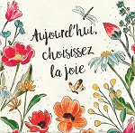 FRENCH GREETING CARD -  TODAY CHOOSE JOY THUMBTACK - 53334