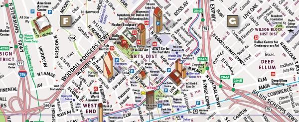 on dallas area map