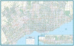 GTA Toronto PAPER Wall Map - 20598