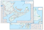 Atlantic Canada Double-sided Laminated Wall Map - 1196