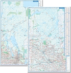 Manitoba Saskatchewan Double-sided Laminated Wall Map - 20667