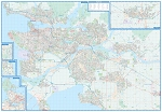 Vancouver Fraser Valley Laminated Wall Map - 20663