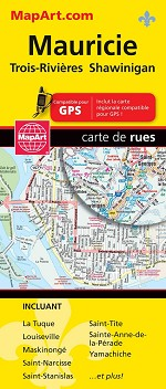 OUT OF STOCK Mauricie / Trois-Rivieres Map - 1114
