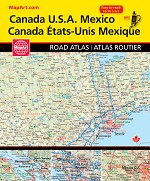 Canada USA Mexico North American Road Atlas  2020 - 20227