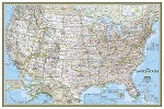 United States National Geographic Classic Wall Map - 20768
