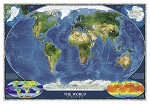 WORLD SATELLITE WALL MAP 43.5 X 30.5  39.99  - 20770
