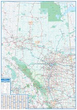 Alberta Laminated Wall Map - 20660