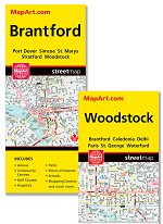 Brantford / Woodstock Map - 1161