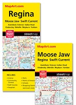 Regina / Moose Jaw Map - 1168