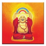 GREETING CARD - LAUGHING BUDDHA THUMBTACK    - 38940