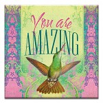 GREETING CARD - YOU ARE AMAZING THUMBTACK  -  38986
