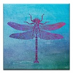 GREETING CARD - DRAGONFLY PRINT THUMBTACK - 31714